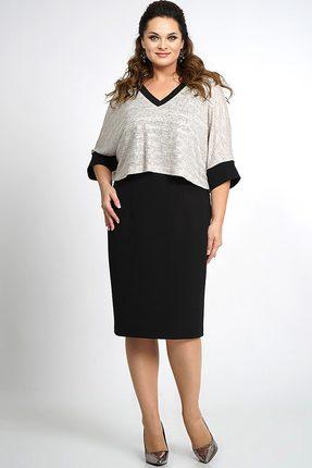Купить Платье Alani 801 черно-серый, Платья, 801, черно-серый, «Фиона»: ПЭ 95%+Спандекс 5% Трикотаж : ПЭ 70%+Вискоза 25%+Эластан 5%, Мультисезон