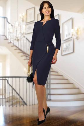 Купить Платье Миа Мода 938-5 синий, Вечерние платья, 938-5, синий, ПЭ 95 %, спандекс 5%, Мультисезон