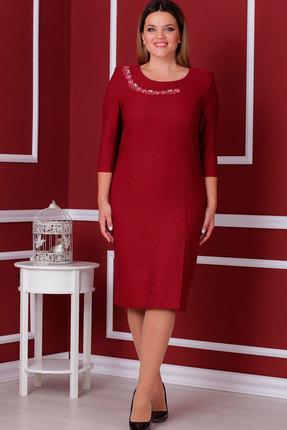 Купить Платье Nadin-N 1540 красный, Платья, 1540, красный, ПЭ 71%, Вискоза 24%, Спандекс 5%, Мультисезон