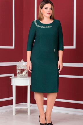 Купить Платье Nadin-N 1540.1 зелёно-бирюзовые тона, Платья, 1540.1, зелёно-бирюзовые тона, ПЭ 71%, Вискоза 24%, Спандекс 5%, Мультисезон