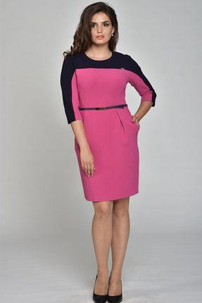 Купить Платье Lady Style Classic 811 фуксия, Платья, 811, фуксия, ПЭ 73%+Вискоза 24%+Спандекс 3%, Мультисезон