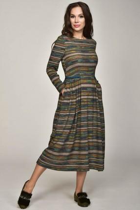 Купить Платье Teffi style 1364 мультиколор, Повседневные платья, 1364, мультиколор, 81% ПЭ, 14% вис, 5% спандекс, Мультисезон
