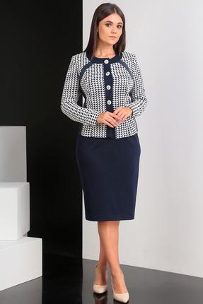 Комплект юбочный Мода-Юрс 2066 синий + белый