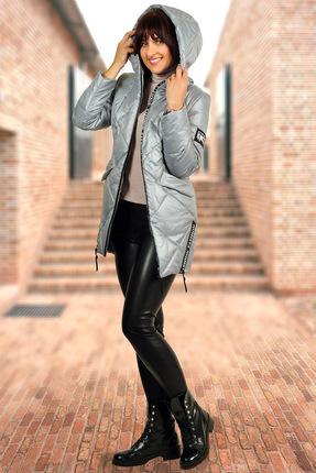 Купить со скидкой Пальто Миа Мода 947 серый