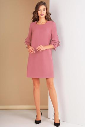 Купить Платье Ксения Стиль 1574 розовый, Платья, 1574, розовый, п/э 71%, вискоза 23%, спандекс 6% (костюмно-плательная ткань), Мультисезон