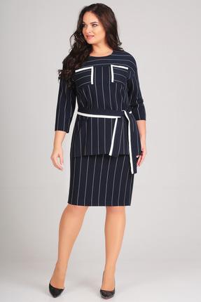 Комплект юбочный Denissa Fashion 1169 темно-синий