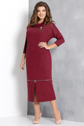 Купить Платье Olga Style с552 бордо, Платья, с552, бордо, пэ 67%, вискоза 29%, спандекс 4%, Мультисезон