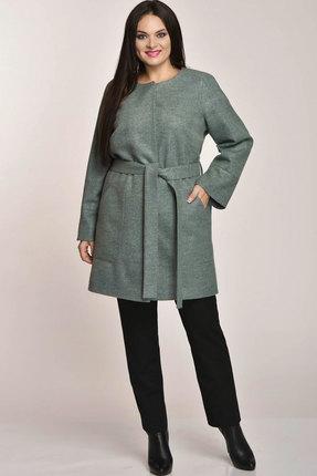 Купить со скидкой Пальто Elga 41-455 зелёные тона