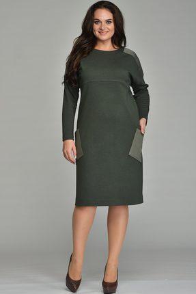 Купить Платье Lady Style Classic 1473 хаки, Платья, 1473, хаки, ПЭ 62%+Вискоза 38% Отделочная ткань: ПЭ 100%, Мультисезон