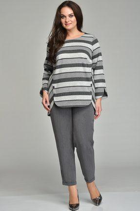Купить Комплект брючный Lady Style Classic 1638 серый, Брючные, 1638, серый, Джемпер: ПЭ 62%+Вискоза 38% Брюки: ПЭ 80%+Вискоза 16%+ПУ 4%, Мультисезон