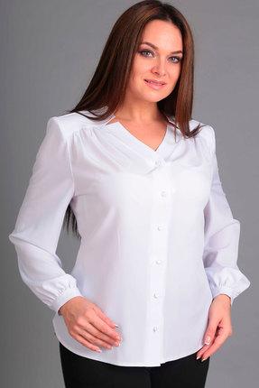 Купить Блузка Асолия 4032 белый, Блузки, 4032, белый, ПЭ - 96%, Спандекс - 4%, Мультисезон