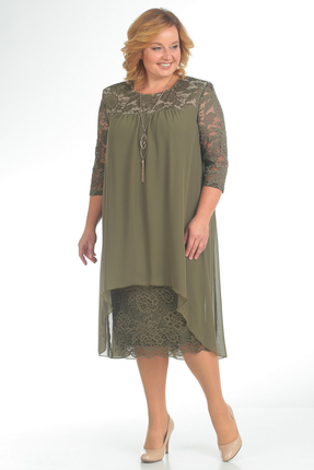 Купить Платье Pretty 642 хаки, Платья, 642, хаки, 96% полиэстр 4% спандекс, 100% полиэстр, Мультисезон