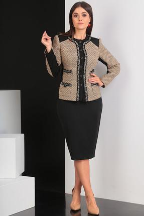 Купить со скидкой Комплект юбочный Мода-Юрс 2432 черный с бежевым