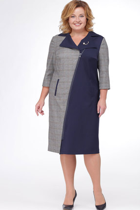 Купить Платье Bonna Image 356 синий, Платья, 356, синий, Вискоза - 62 %, Полиэстр - 33%, Спандекс -5 %, Мультисезон