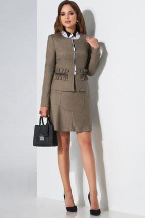 Комплект юбочный Lissana 3482 серый с белым