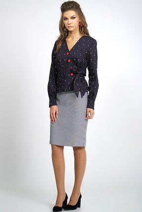 Комплект юбочный Alani 802 темно-синий с серым