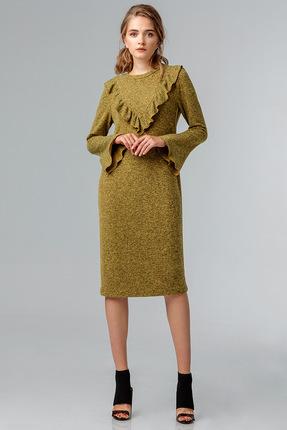 Купить Платье Gizart 7056 золото, Платья, 7056, золото, Вискоза 70%, Полиэстер27%, Эластан 3%, Мультисезон