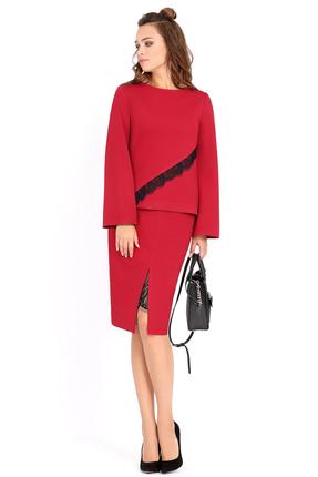 Купить Комплект юбочный PIRS 488 красный, Юбочные, 488, красный, Состав: 96% вискоза 4% эластан, Мультисезон