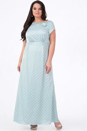 Купить Платье Erika Style 632-1 мята, Платья, 632-1, мята, вискоза 72%, ПЭ 25%, спандекс 3%, Лето