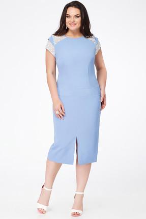 Купить Платье Erika Style 653 голубой, Платья, 653, голубой, вискоза 72%, ПЭ 25%, спандекс 3%, Лето