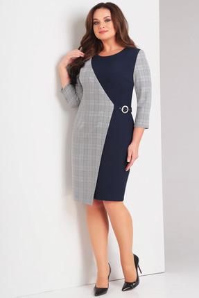 Купить Платье Милора-Стиль 650 синие тона, Повседневные платья, 650, синие тона, Вискоза 60%, полиэстер 35%, лайкра 5%., Мультисезон