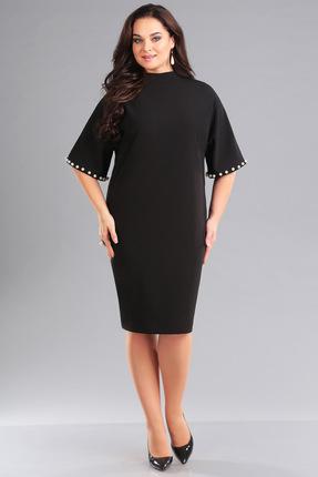 Купить Платье Ива 1050 черный, Повседневные платья, 1050, черный, плательная 70% п/э, 25% вискоза, 5% спандекс, Мультисезон