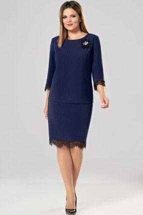 Купить Комплект юбочный Lady Secret 1582 темно-синий, Юбочные, 1582, темно-синий, ПЭ 63%+Вискоза 33%+Спандекс 4%, Мультисезон