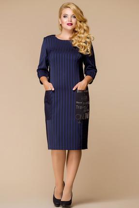 Купить Платье Romanovich style 1-1388 синий, Платья, 1-1388, синий, Костюмно-плательная ткань (100% ПЭ), Мультисезон