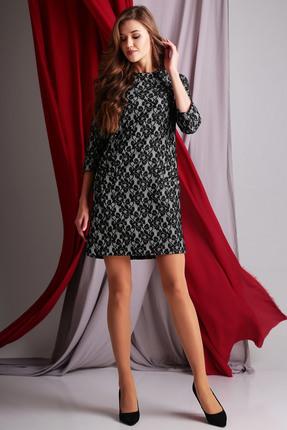 Купить Платье Axxa 53951в черные тона, Платья, 53951в, черные тона, Трикотажное полотно (ПЭ 65%+вискоза 35%), Мультисезон