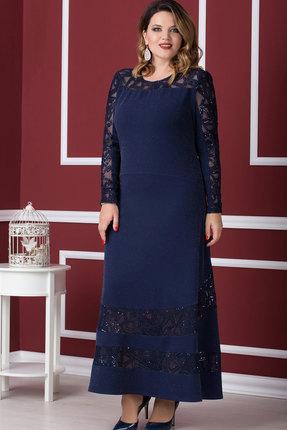 Купить Платье Nadin-N 1563 тёмно-синий, Платья, 1563, тёмно-синий, ПЭ 100%, Мультисезон