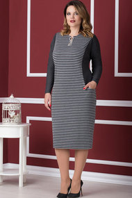 Платье Nadin-N 1565 серый