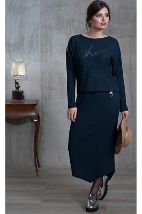 Купить Платье Faufilure с452 синий, Платья, с452, синий, Вискоза 60%, Полиэстер 40%, Мультисезон