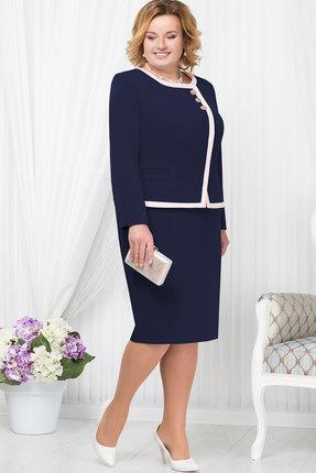 Купить Комплект юбочный Ninele 5667 тёмно-синий, Юбочные, 5667, тёмно-синий, Полиэстер - 95%, Спандекс - 5%, подкладка – ПЭ - 100%, Мультисезон