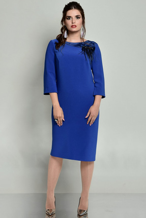 Купить Платье Faufilure с681 синий, Платья, с681, синий, Полиэстер 95%, спандекс 5%, Мультисезон