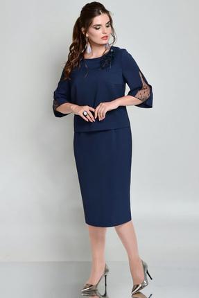 Купить Платье Faufilure с676 синий, Платья, с676, синий, Полиэстер 95%, спандекс 5%, Мультисезон