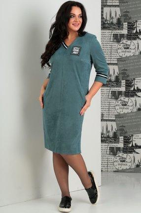 Купить Платье Jurimex 1861 светло-бирюзовые тона, Платья, 1861, светло-бирюзовые тона, полиэстер – 73%, вискоза – 22%, спандекс – 5%, Мультисезон