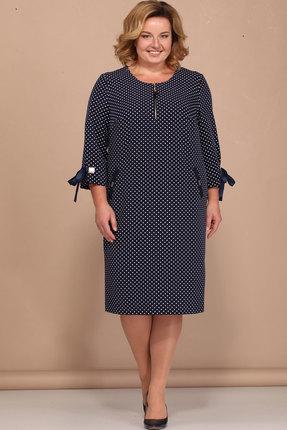 Купить Платье Bonna Image 372 тёмно-синий, Платья, 372, тёмно-синий, 71% ПЭ, 24% Вискоза, 5% Спандекс, Мультисезон