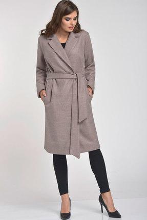 Купить со скидкой Пальто Elga 41-566 бежевый