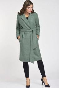 Пальто Elga 41-566 светло-зелёный