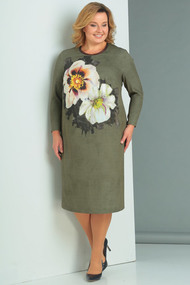 Платье Новелла Шарм 3114 серо-зеленые тона