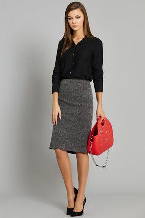 Женская черная классическая рубашка