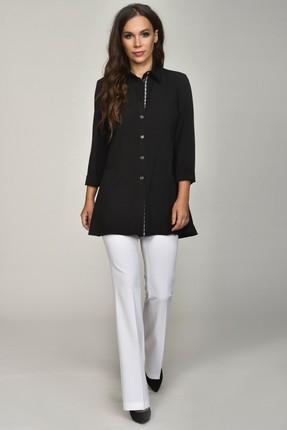 Купить Рубашка Teffi style 1359 черный, Рубашки, 1359, черный, 95% пэ, 5% эластан, Мультисезон