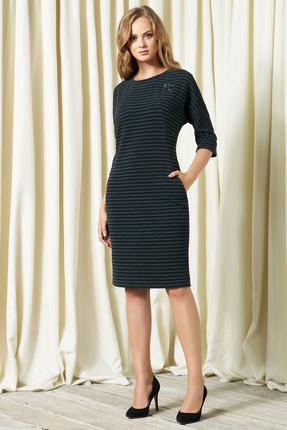 Купить Платье Bazalini 2976 серые тона, Повседневные платья, 2976, серые тона, трикотаж - Вискоза 74% ПЭ 21% Эластан 5%, Мультисезон