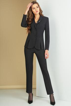 женский брючный костюм ксения стиль, черный