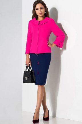 Купить Комплект юбочный Lissana 2885 розовый с синим, Юбочные, 2885, розовый с синим, ПЭ 65%+Вискоза 33%+Спандекс 2%, Мультисезон