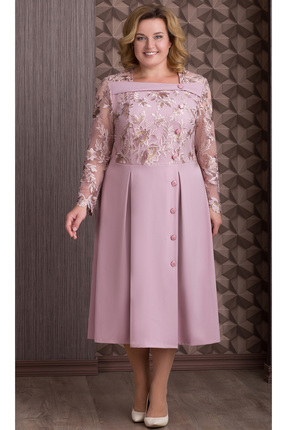 Купить Платье Aira Style 640 розовый, Платья, 640, розовый, Плательная ткань (пэ 95%, спандекс 5%), Мультисезон