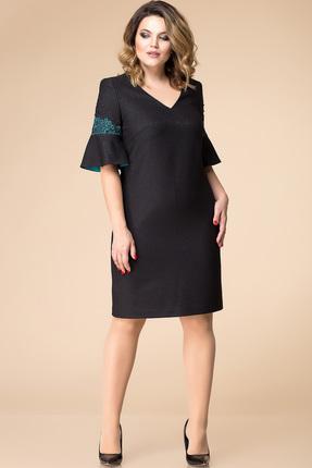 Купить Платье Romanovich style 1-1713 черный, Платья, 1-1713, черный, Текстиль (71% полиэстер, 24% вискоза, 5% спандекс), Мультисезон