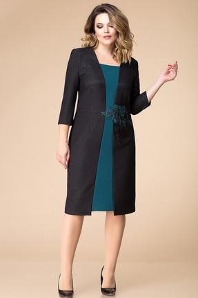 Купить Платье Romanovich style 1-1714 черный, Платья, 1-1714, черный, Текстиль (71% полиэстер, 24% вискоза, 5% спандекс), Мультисезон