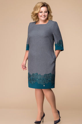 Купить Платье Romanovich style 1-1718 серый, Платья, 1-1718, серый, Костюмно-плательная ткань (97% ПЭ, 3% спандекс), Мультисезон