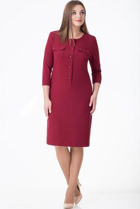 Купить Платье Линия-Л Б-1678 бордо, Платья, Б-1678, бордо, ПЭ 97%+Спандекс 3%, Мультисезон